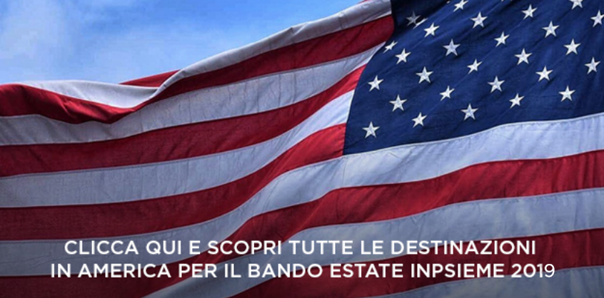 Destinazioni Bando Estate INPSieme 2019 America